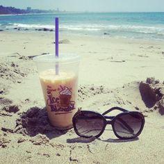 love a coffee bean and the beach....