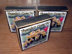 TEACHER or CoACH Personalized gift Larger by WasteNotRecycledArt. $12.50, via Etsy.