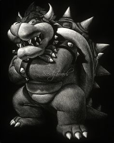A print of the Koopa King himself! This piece was a big hit at Wizard World…