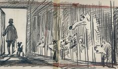 Lady and the Tramp (1955) | 50 Beautiful Pieces Of Concept Art From Classic Disney Movies
