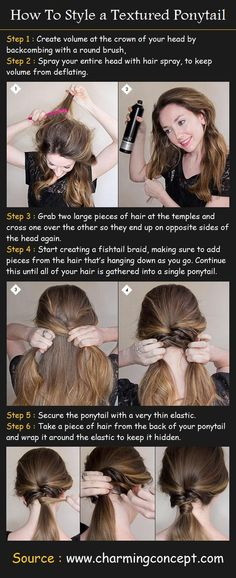 Styling a Textured Ponytail Tutorial