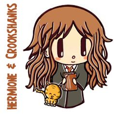 How to Draw Cute Chibi Hermione Granger and Crookshanks with Easy Step by Step Drawing Tutorial