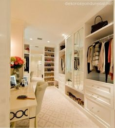 The best of luxury closet design in a selection curated by Boca do Lobo to inspire interior designers looking to finish their projects. Discover unique walk-in closet setups by the best furniture makers out there Walk In Closet Design, Closet Designs, Closet Vanity, Closet Mirror, Closet Redo, Huge Closet, Dressing Room Design, Dressing Rooms, Dressing Table