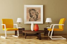 Stampa su legno per un quadro con cornice con effetto naturale.