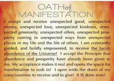 Oath of Manifestation