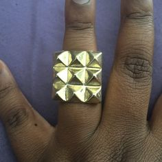 Small spikes Gold small spike ring sz 7 Jewelry Rings