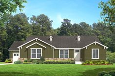 Red Deer Craftsman - Craftsman style house plan - Walker Home Design