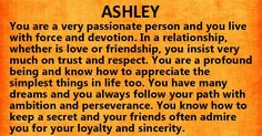 The name Ashley's secret meaning.