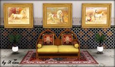 Arabian Horses Painting Set by X-tina - Sims 3 Downloads CC Caboodle