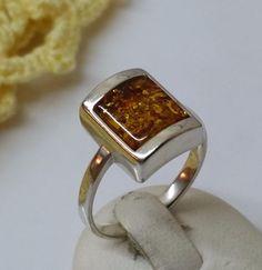 Bernstein+Ring+925er+Silberring+17+mm+SR395+von+Atelier+Regina++auf+DaWanda.com