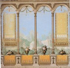 wallpaper painting abt 1800