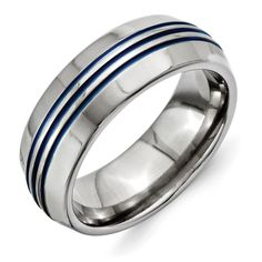 Titanium 14k Yellow Inlay 10 Mm Polished Wedding Band Diversified Latest Designs Jewelry & Watches