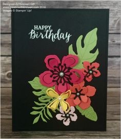 by Kirsteen: Botanical Blooms, Rose Wonder, Botanical Builder framelits - all from Stampin' Up!