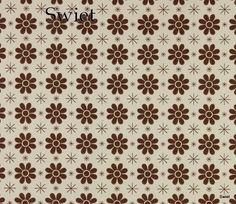 Retro bloemetjes behang | Swiet