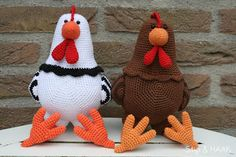 Chickens! great site! press on free paterns (dutch) druk op gratis patronen