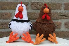Chickens! great site! press on free paterns (dutch) druk op gratis patronen