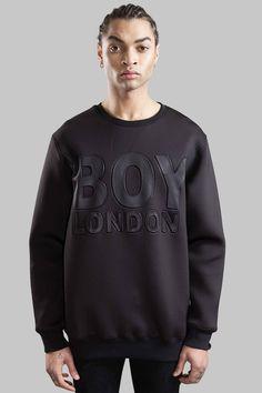 BOY LONDON NEOPRENE SWEAT - BLACK