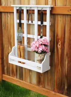 Outdoor Window Shelf With Lattice