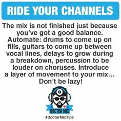 Channel mixing tip Audio Music, Recorder Music, Electronic Music, Music Recording Studio, Home Studio Music, Music Mix, My Music, Music Stuff, Music Hacks