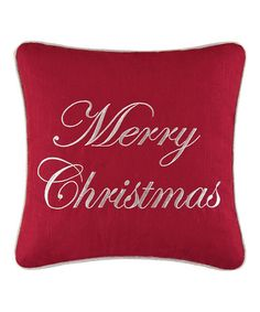 Love this 'Merry Christmas' Throw Pillow on $25  #zulily! #zulilyfinds