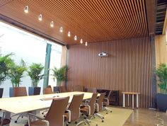 9wood slat ceiling