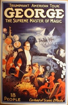 Art Print George Supreme Master of Magic Poster Vintage Repro 24 x 36 Magician | eBay Magicians Magic Poster