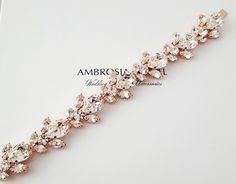 Decadent, Sophisticated. Rose Gold and Swarovski Crystals make this wonderful creation. Vivienne Bracelet