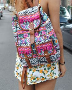 cute summer aztec back pack