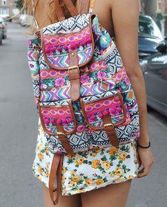dcb876637ffa Empyre Serene Chevron Stripe Rucksack Backpack