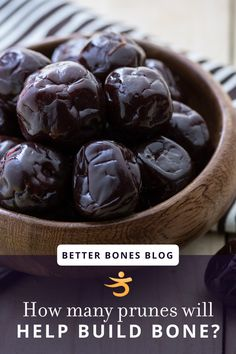 Six is officially the new magic number when it comes to how many prunes a day provide bone-building benefit. Learn more and get two great prune recipes! Osteoporosis Diet, Osteoporosis Exercises, Prune Recipes, Daily Number, Increase Bone Density, Alkaline Foods, Bone Health, Gluten Free Cooking, Falling Apart