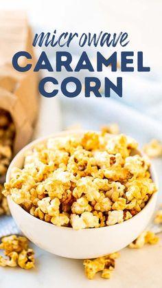 Flavored Popcorn, Popcorn Recipes, Microwave Recipes, Candy Recipes, Sweet Recipes, Holiday Recipes, Easy Snacks, Yummy Snacks, Healthy Snacks