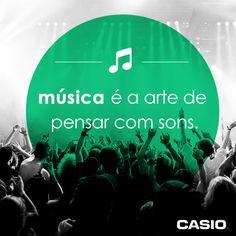 Música = arte + sons.