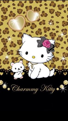 Glitter and Gold Charmmy Kitty and Sugar Hello Kitty Art, Hello Kitty Items, Hello Kitty Backgrounds, Hello Kitty Wallpaper, Cellphone Wallpaper, Iphone Wallpaper, Hello Kitty Pictures, Hello Kitty Collection, Curious Cat