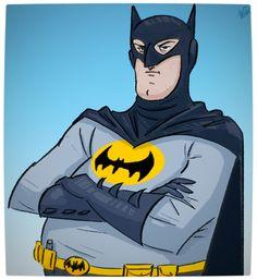Vamers - Geekosphere - Artistry - Old Superheroes - Heroes in in their Golden Years - Art by Lelpel - Batman