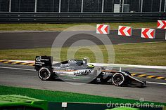 Force India-Mercedes VJM09 during Friday free practice session of the 2016 Formula One Italian Grand Prix at the Autodromo Nazionale Monza.
