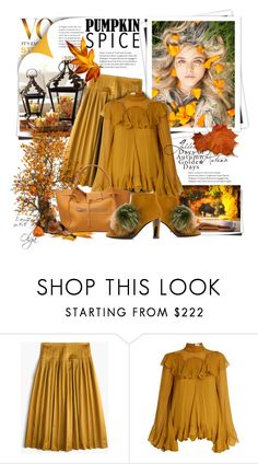 """""""Monochrome Mustard Set"""" by olga1402 on Polyvore featuring J.Crew, GALA, Chloé and Pollini"""