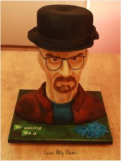 Breaking Bad Cake. My entry for the 2016 Irish Sugarcraft Show hosted by the Dublin Sugarcraft Guild. Heisenberg / Walter White from Breaking Bad. This cake got Gold.