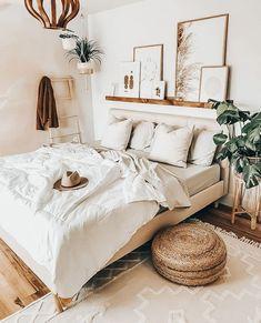 Boho Bedroom Decor, Room Ideas Bedroom, Home Bedroom, Bedroom Designs, Bohemian Decor, Bedroom Inspo, Ikea Bedroom, Bedroom Decorating Ideas, Bedroom Inspiration Cozy
