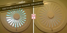 Custom, adjustable round window shutter for porthole windows. Manufactured in the USA by VU Window Treatments of Verticals Unlimited. #MyVu