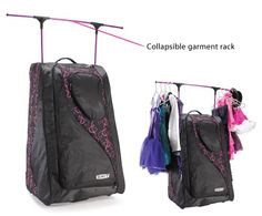 New Grit Dance Tower Dance Bag Duffels With Rack N Roll Fold Away Black Black 2016 Dance Bags