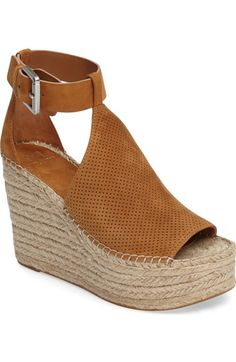 0a2f8e2ab20492 Marc Fisher LTD Annie Perforated Espadrille Platform Wedge (Women)  available at  Nordstrom Marc