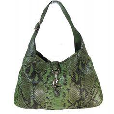 Soft Snakeskin Bag in green