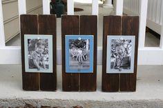 Set of 3 Brown 4 x 6 Distressed Wood Frames by WestAshleyWallArt, $49.00