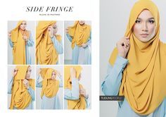 SIDE FRINGE Hijab Tutorial Featuring TudungPeople Numa Luxe 2.0 Hijab in Mustard