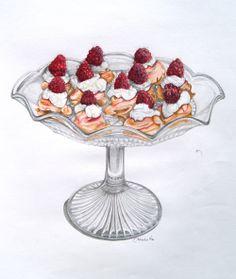 Ideas For Cupcakes Illustration Sketches Album Cupcake Illustration, Illustration Sketches, Food Illustrations, Watercolor Illustration, Halloween Cupcakes, Vintage Diy, Cupcake Torte, Meringue Kisses, Food Sketch