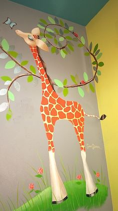 Hand-painted art by the fabulous Sam Simon. Hmmm...Maybe I should ask Jody to do something like this for Emma's room.,