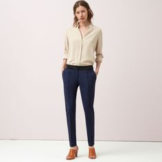 FWSS Feels Right are tailor inspired trousers in a luxurious wool mix. Pockets fitted in the side seams, double welt pocket at the back and zippers in the side seams. Blue Trousers, Pants, Fall Winter Spring Summer, Black Iris, Welt Pocket, Winter Season, Zippers, Feels, Pockets