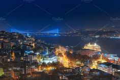 Bosphorus Bridge evening Web by naumenkophotographer on @creativemarket