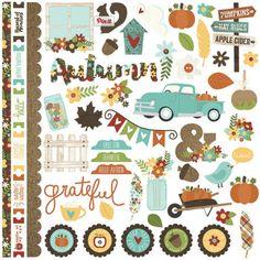 Fall/ Autumn decorative stickers