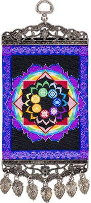 Chakras with Antiqued Metal Frame - Small Tapestry  $18.95